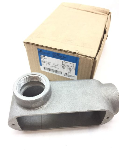 CROUSE-HINDS BY EATON CONDUIT OUTLET BODY LL59 1-1/2″ MARK 9 NEW BOX OF 2 (TLO) 1