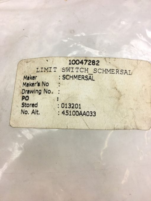 NEW LOT OF 10 IN BAG SCHMERSAL BR21N LIMIT SWITCH, FAST SHIPPING! B313 2