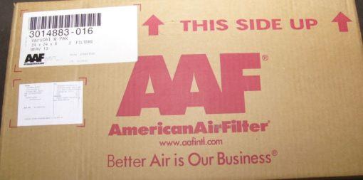 AMERICAN AIR FILTER 3014883-016 VARICEL DH STD AAF 2@ 24 X 24 X 6 NEW (P10) 1