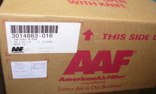 AMERICAN AIR FILTER 3014883-016 VARICEL DH STD AAF 2@ 24 X 24 X 6 NEW (P10) 2