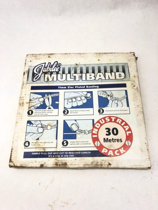 JUBILEE 1702 MULTIBAND ZINC PLATED MILD STEEL 11MM 30M PACK CLIP CLAMP (H348) 1