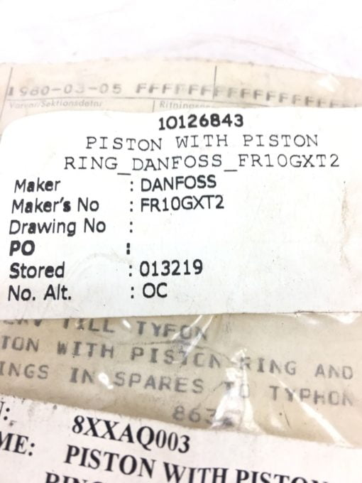 NEW IN BAG DANFOSS 8632 PISTON WITH PISTON RING FOR FR10GXT2, FAST SHIP! B313 2