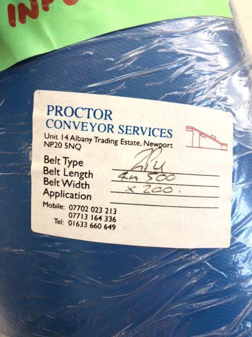 NEW PROCTOR CONVEYOR 2PU CONVEYOR BELT, 4M 500 BELT LENGTH 200 BELT WIDTH, B432 2