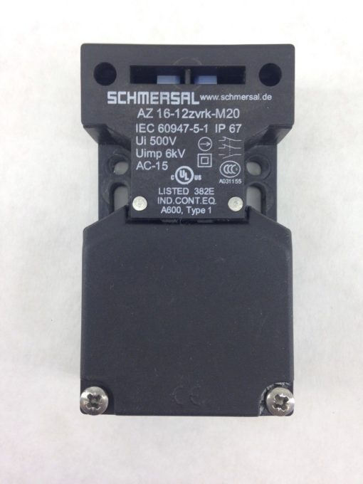 SCHMERSAL AZ16-12ZVRK-M20 SAFETY INTERLOCK SWITCH (H347) 2