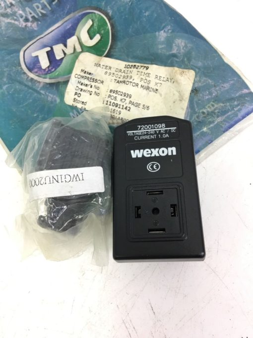 NEW TAMROTOR  NT0734 TIME CONTROL UNIT WEXON 72001098, WATER DRAIN RELAY, B296 2