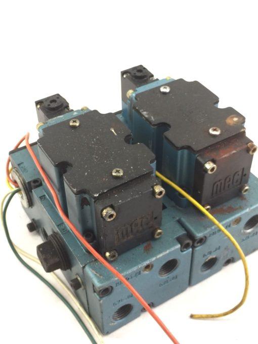 USED MAC 6511B-000-PP-112DA 6511B-512-P DBL SOLENOID VALVE W/ MANIFOLD (B390) 1
