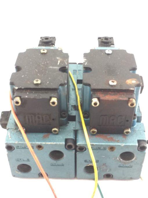 USED MAC 6511B-000-PP-112DA 6511B-512-P DBL SOLENOID VALVE W/ MANIFOLD (B390) 3