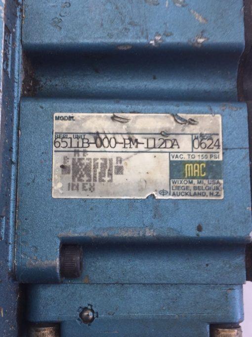 USED MAC 6511B-000-PM-112DA & 6511B-512-PM-1120A SOLENOID VALVE, MANIFOLD (B390) 3