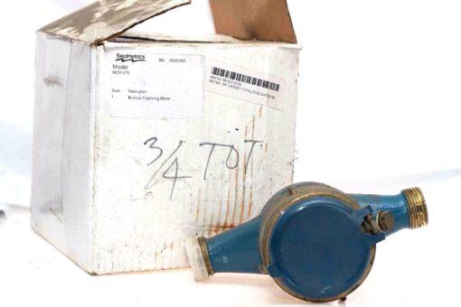 "SEAMETRICS MDT-075 3/4"" NPT BRONZE TOTALIZING WATER METER 150 PSI MAX NIB! (B86) 1"