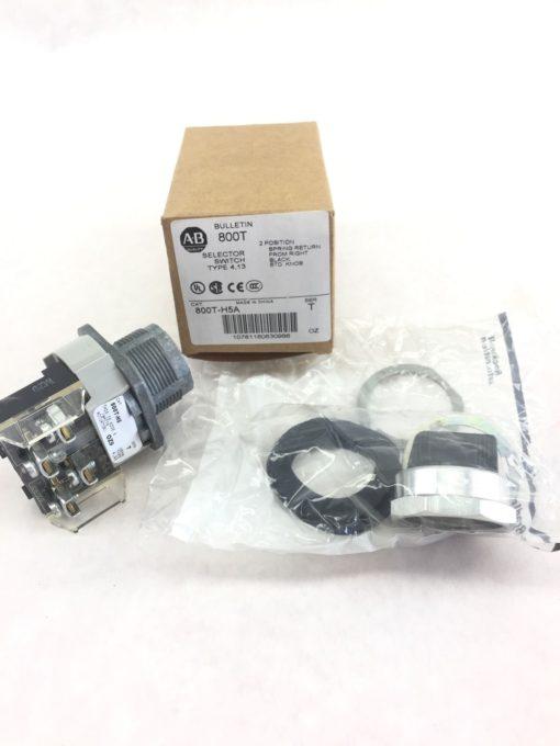 Allen-Bradley 800T-H5A Nema Type 4 13 Selector Switch 2 Position Spring New H39 1