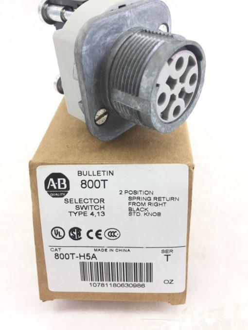 Allen-Bradley 800T-H5A Nema Type 4 13 Selector Switch 2 Position Spring New H39 2