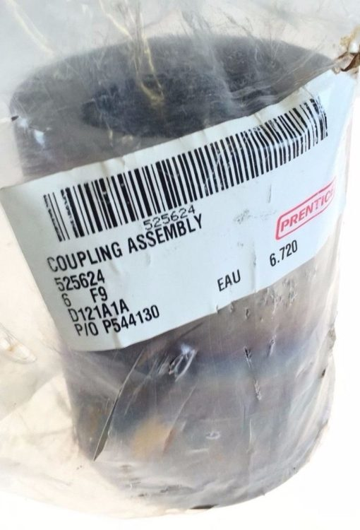 NEW IN BAG PRENTICE COUPLING ASSEMBLY 525624, 5/8 INCH KEYWAY, D121A1A, G90 1