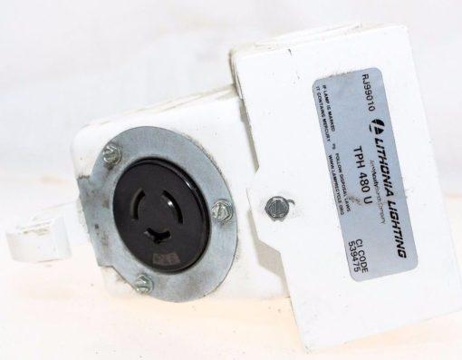 LITHONIA LIGHTING TPH 480 U FIXTURE ACCESSORY THROUGH WIRE POWER HOOK NEW (G93) 1
