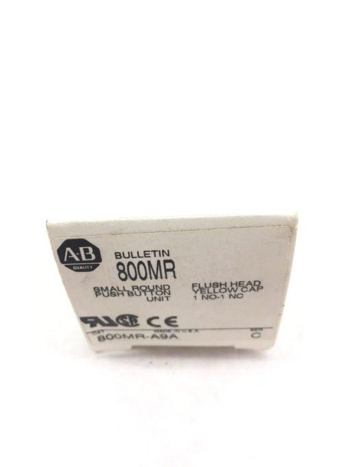 ALLEN BRADLEY 800MR-A9A SERIES C SMALL FLUSH HEAD PUSH BUTTON YELLOW NEW H83 2
