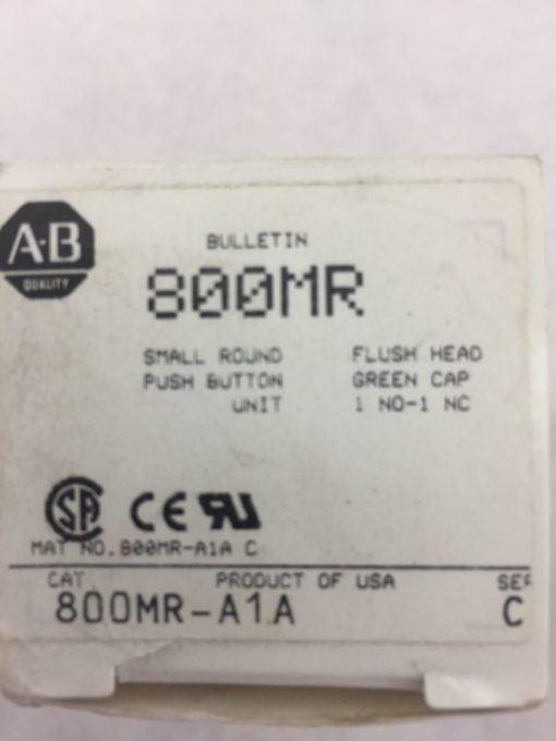 ALLEN BRADLEY 800MR-A1A SERIES C SMALL FLUSH HEAD PUSH BUTTON GREEN NEW H83 2