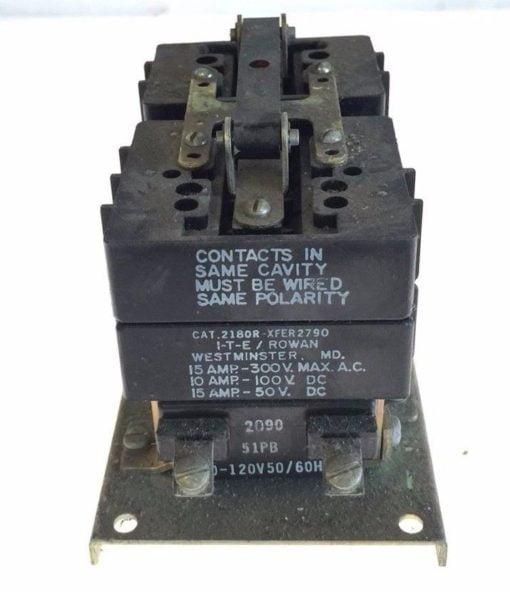 NEW I-T-E ROWAN 2180R-XFER2790 GENERAL PURPOSE RELAY 110/120VAC 50/60HZ, G96 1