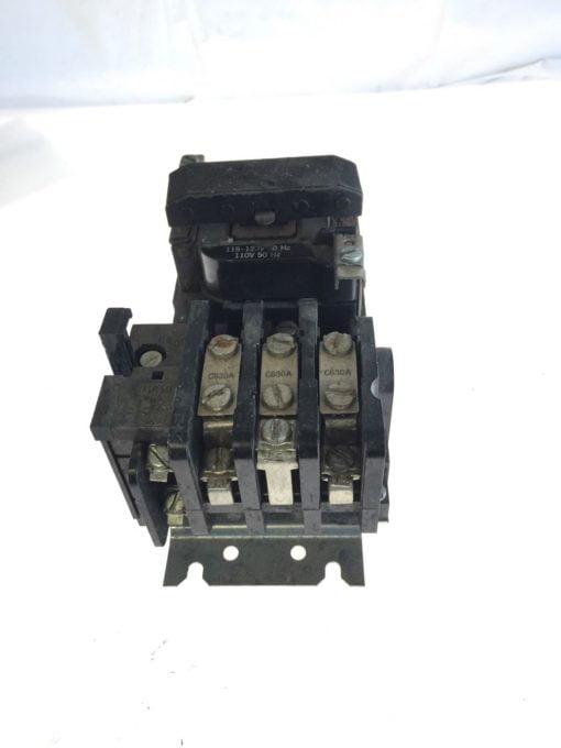 USED GE Magnetic Starter 15D21G002 NEMA B600, 110/115-120VAC, 50-60HZ, G96 2