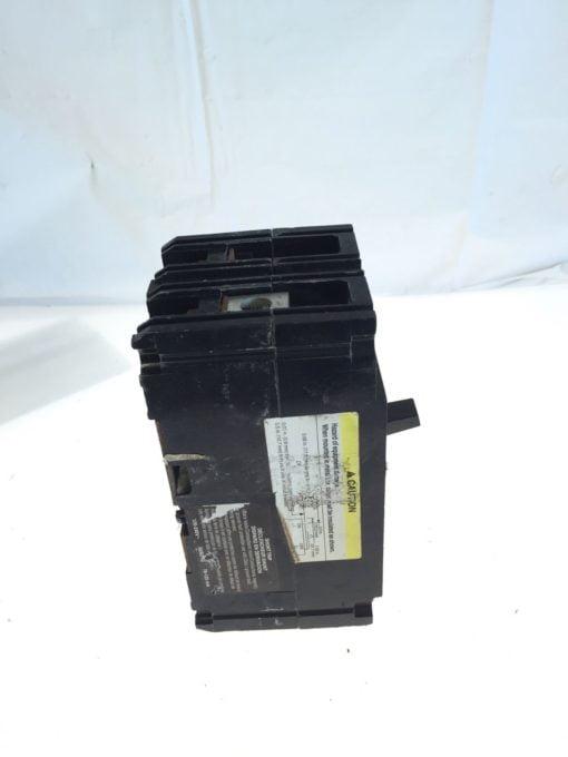 USED SQUARE D CIRCUIT BREAKER, FAL240801021, 80 AMP, 480 VOLT, 2 POLE, G96 2