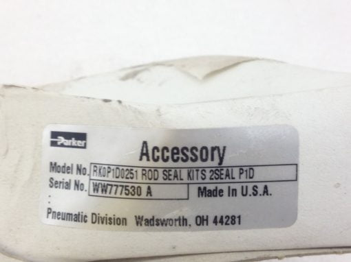 NEW! PARKER ACCESSORY # RK0P1D0251 ROD SEAL KITS 2SEAL P1D FAST SHIP!!! (H167) 1