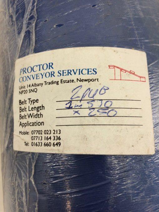 NEW PROCTOR CONVEYOR 2PUB 1M530 LENGTH 250MM WIDTH CONVEYOR BELT, BLUE, (TLO) 2