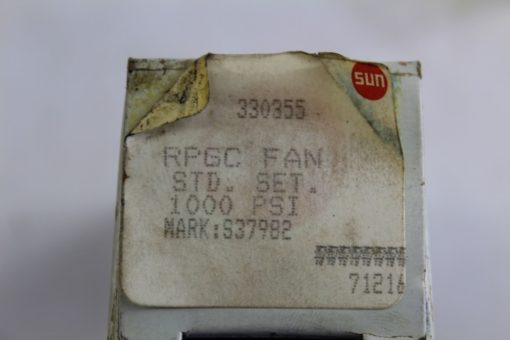 Sun Hydraulics RPGC Fan Relief Valve Cartridge 1000PSI 330355/ S37982 *NEW*(J41) 2
