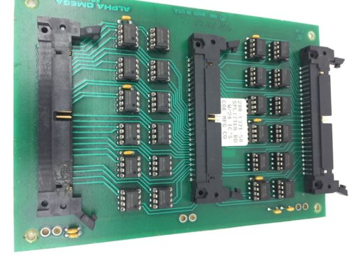 COE MANUFACTURING CO ALPHA OMEGA PC BOARD 288-1371-50 SPLITTER BD W/3 ICs (H258) 1