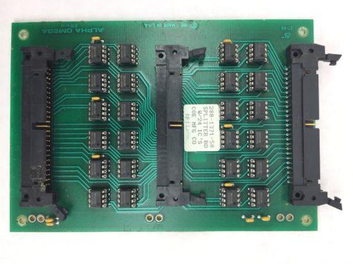 COE MANUFACTURING CO ALPHA OMEGA PC BOARD 288-1371-50 SPLITTER BD W/3 ICs (H258) 2