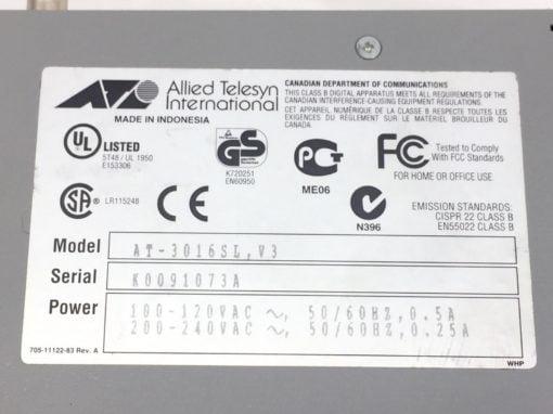 CentreCOM 3016SL AT-3016SL, V-3 10BASE-T ETHERNET MULTIPORT REPEATER (B55) 2