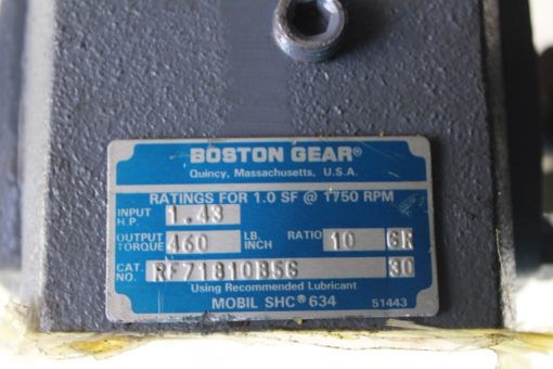 Boston Gear Speed Reducer RF71810B56 with Martin 60BS10 7/8 Sprocket *NEW*(B250) 2