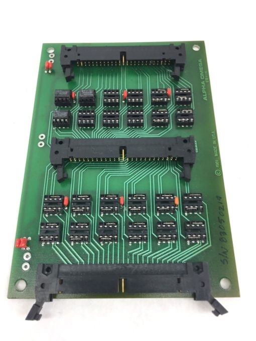 COE MANUFACTURING CO ALPHA OMEGA PC BOARD EB8119 SPLITTER BD W/24 ICs NEW! (H256 1