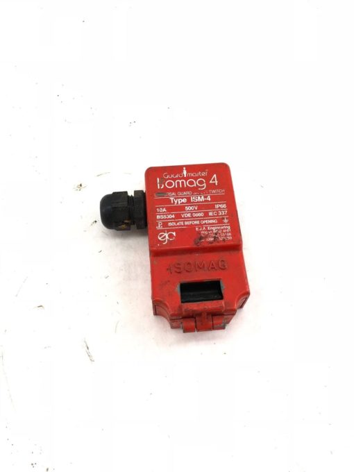 USED GUARD MASTER ISOMAG 4 UNIVERSAL GUARD ISM-4 SAFETY SWITCH, 10A 500V (H349) 1