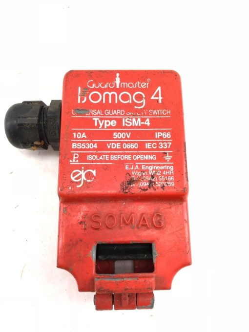 USED GUARD MASTER ISOMAG 4 UNIVERSAL GUARD ISM-4 SAFETY SWITCH, 10A 500V (H349) 2