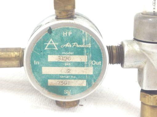 USED HP AIR PRODUCTS MODEL 3170 / 7501 GAS PRESSURE VALVE GAUGE 50PSIG (B214) 3