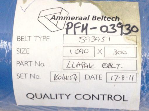 AMMERAAL BELTECH PFM-03930 CONVEYOR BELT TYPE: 593951 BLUE 1090 X 300 (TOL) 2