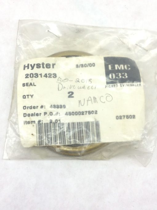 NEW! HYSTER 2031423 SEAL 2-PACK FAST SHIP!!! (H155) 1