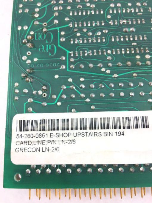 GRECON 2036-02-03 PC BOARD LINE CARD LN2/6 20360203 USED, GREAT CONDITION (H258) 2