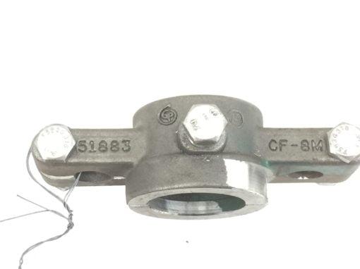 HP SS FLANGE TRIPLE CLAMP 51883 CF-8M GGCZ B100061203 412002223 (A655) 2