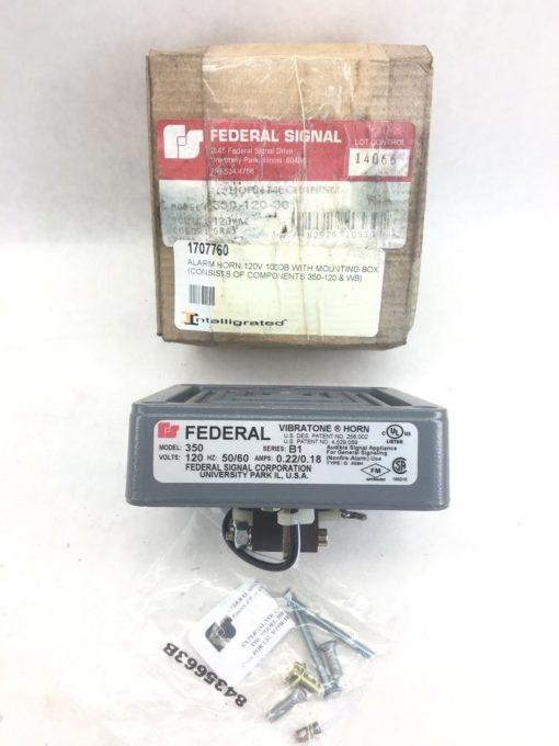 FEDERAL SIGNAL 350-120-30 ALARM HORN MECHANISM (A877) 1