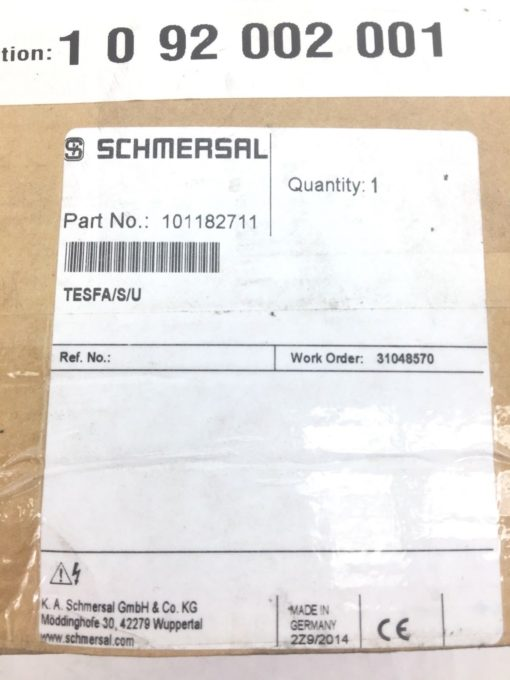 SCHMERSAL VAL0207454 HINGED SAFETY GATE SWITCH 101182711 (F289) 6
