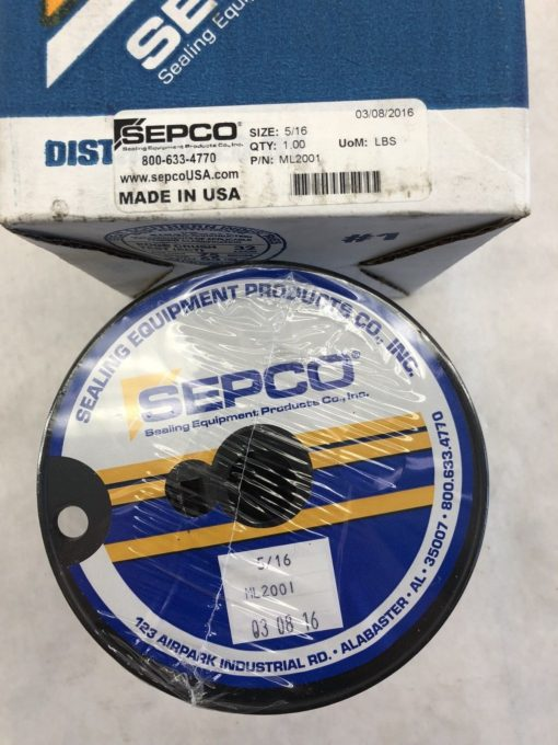 SEPCO ML2001 BRAIDED FLEXIBLE GRAPHITE PACKING SIZE 5/16 (B459) 2