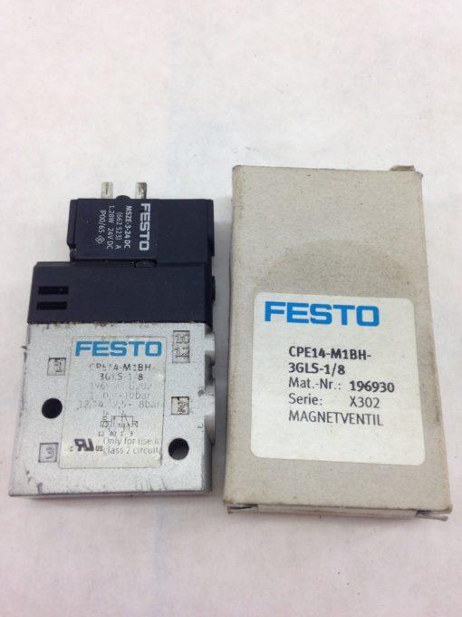 FESTO CPE14-M1BH-3GLS-1/8 SERIES X302 SOLENOID VALVE (A854) 2
