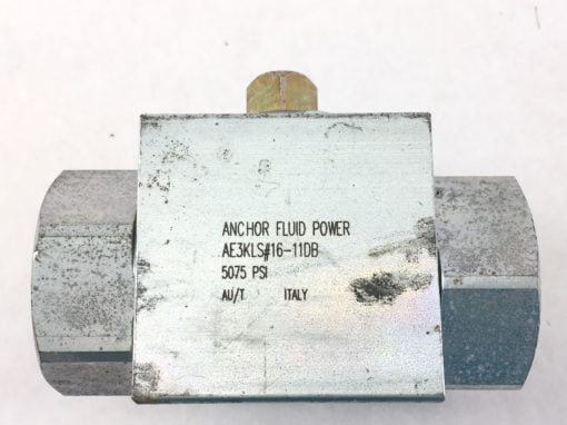 NEW! ANCHOR FLUID POWER AE3KLS#16-11DB 3-WAY BALL VALVE FAST SHIP!!! (HB10) 1