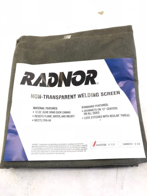 NEW RADNOR 64052101 WELDING SCREEN 6X6 NON-TRANSPARENT, FAST SHIP! (B459) 2