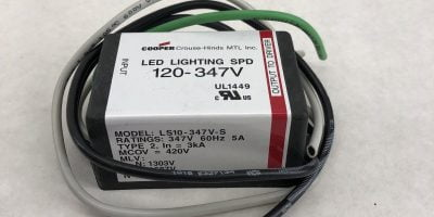 COOPER CROUSE-HINDS 120-347V LED LIGHTING SPD SURGE MODULE LS10-347V-S (J30) 1