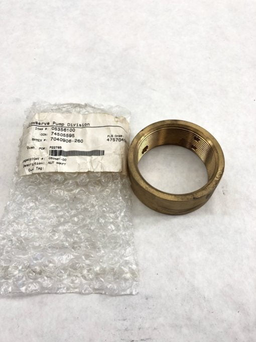 FLOWSERVE 05356100 SHAFT NUT 053561-00 (J30) 1