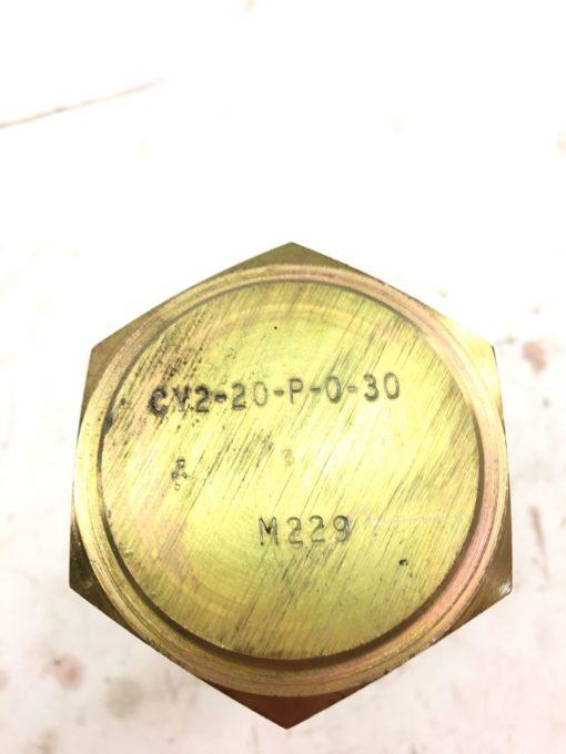 NEW EATON CHECK VALVE CV2-20-P-0-30, FAST SHIPPING! (B369) 2