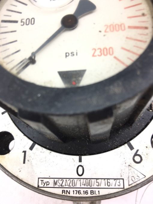 USED REXROTH PRESSURE GAUGE 0-2300 PSI MS2A20/1400, FAST SHIPPING! (B369) 2