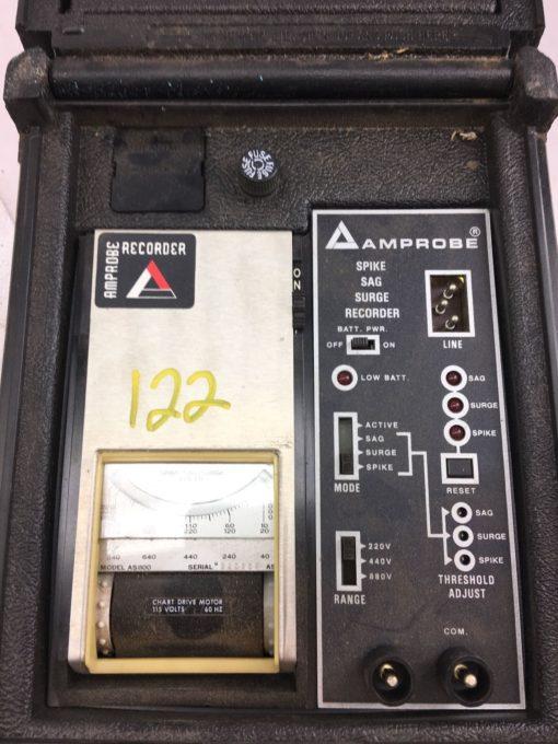 USED AMPROBE SPIKE SAG SURGE RECORDER 115 VOLT 60HZ CHART DRIVE MOTOR, (B369) 2