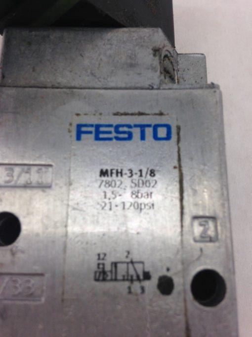 FESTO MFH-3-1/8 SOLENOID VALVE MFH31/8 (A853) 2