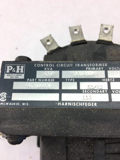 USED P&H HARNISCHFEGER 75Z165-D1 CRANE CONTROL TRANSFORMER, FAST SHIP! B332 2